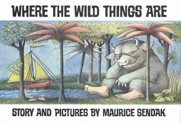 Where the Wild Things Are By Maurice Sendak  The classic of children's books which has stood the test of time, first published in 1963. Max - a young boy who likes to dress up in his wolf costume - sails away to a distant land after being sent to bed early without any dinner for misbehaving. There he meets the Wild Things, fearsome monsters who he conquers and befriends.