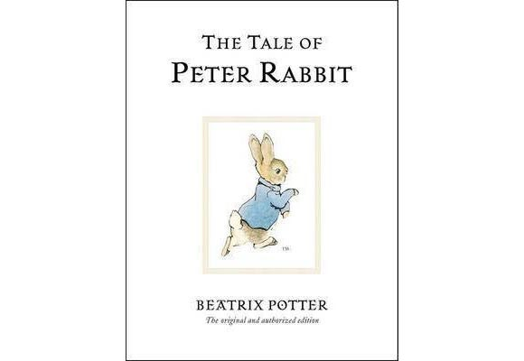 The Tale of Peter Rabbit By Beatrix Potter  Your children will love the beautiful illustrations and funny story centred around Peter Rabbit and his sisters Flopsy, Mopsy and Cottontail, and his mum - all who wear human clothing, generally walk on their hind legs, and live under a fir tree. Peter is a naughty little rabbit who is always getting caught in Mr McGregor's garden, which is where his father met his untimely end.