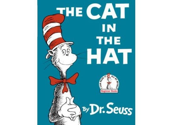 The Cat in the Hat By Dr Seuss  Possibly the most popular of the Dr Seuss books, The Cat in the Hat features a human-like cat - in a tall striped hat and bow tie - who turns an ordinary, dreary rainy day into a magical afternoon for two children. A great book for children to learn to read with, as the simple single-vowel language is easy to memorise and recognise.