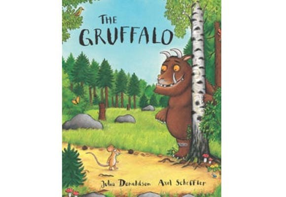 The Gruffalo By Julia Donaldson   This beautiful rhyming story starts with a little mouse taking a walk in the deep dark wood. He comes across some forest creatures who would like nothing better than a little mouse to eat, so he makes up a story about the scary Gruffalo to frighten away his enemies. But he soon discovers that the creature isn't imaginary after all. A little bit scary for the very young.
