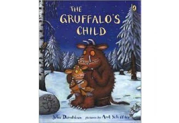The Gruffalo's Child By Julia Donaldson  Following the storyline and rhyming pattern similar to its predecessor, The Gruffalo, the Gruffalo's daughter who has grown up hearing terrible stories of the big bad mouse from her father, decides to set off into the woods to find him. There she encounters the characters from the first book, the snake, the owl and the fox and eventually she catches up with the mouse that is not as big as she was lead to believe.